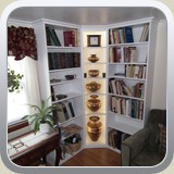 Built-in Bookcase with Display